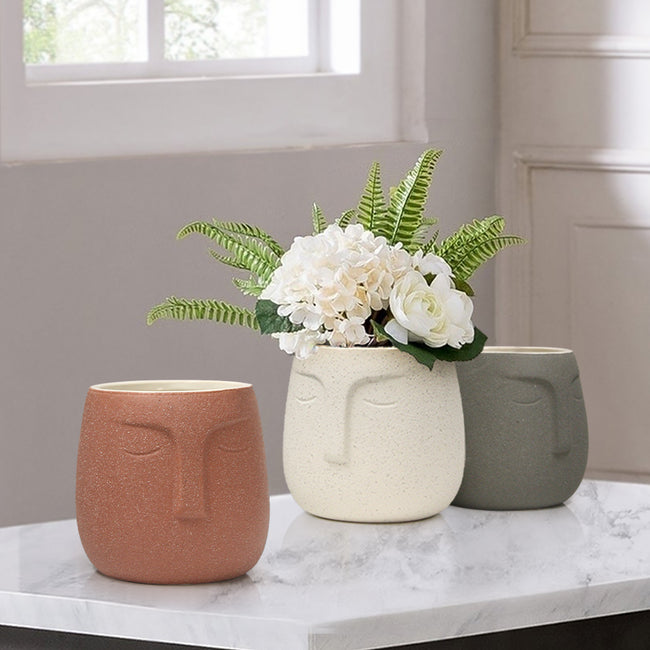 Slumbering Ceramic Pot & Planter Set