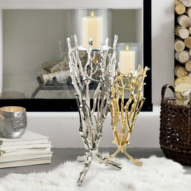 Twig Candle Stand