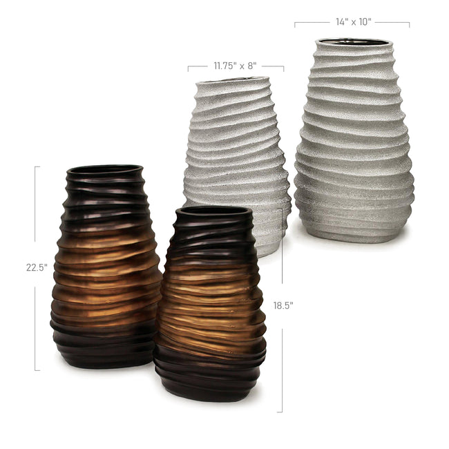 Phantasmic Collection Tapered Oval Vase