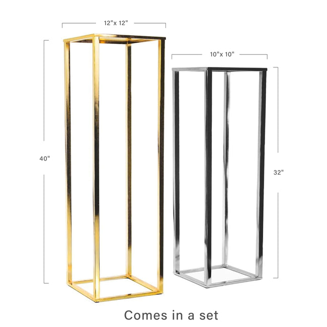 Electroplated Metal Stand Set