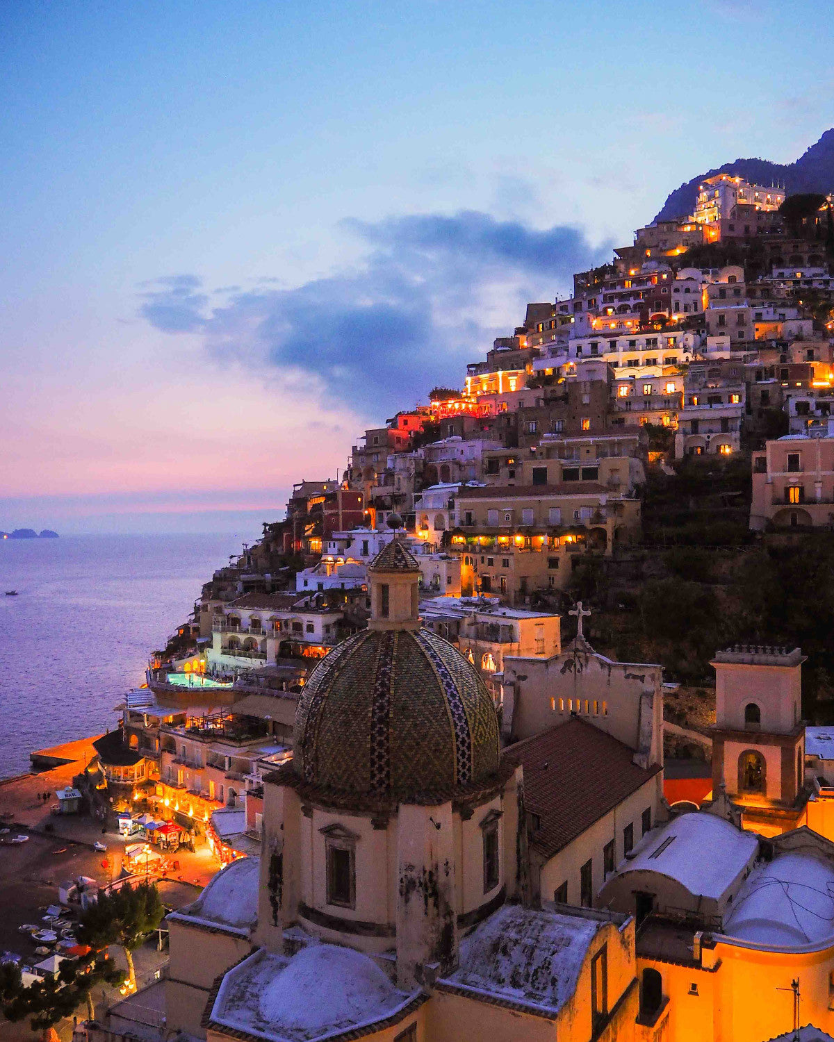 Positano by night - The Laughing Shooter for La Maison Talulah