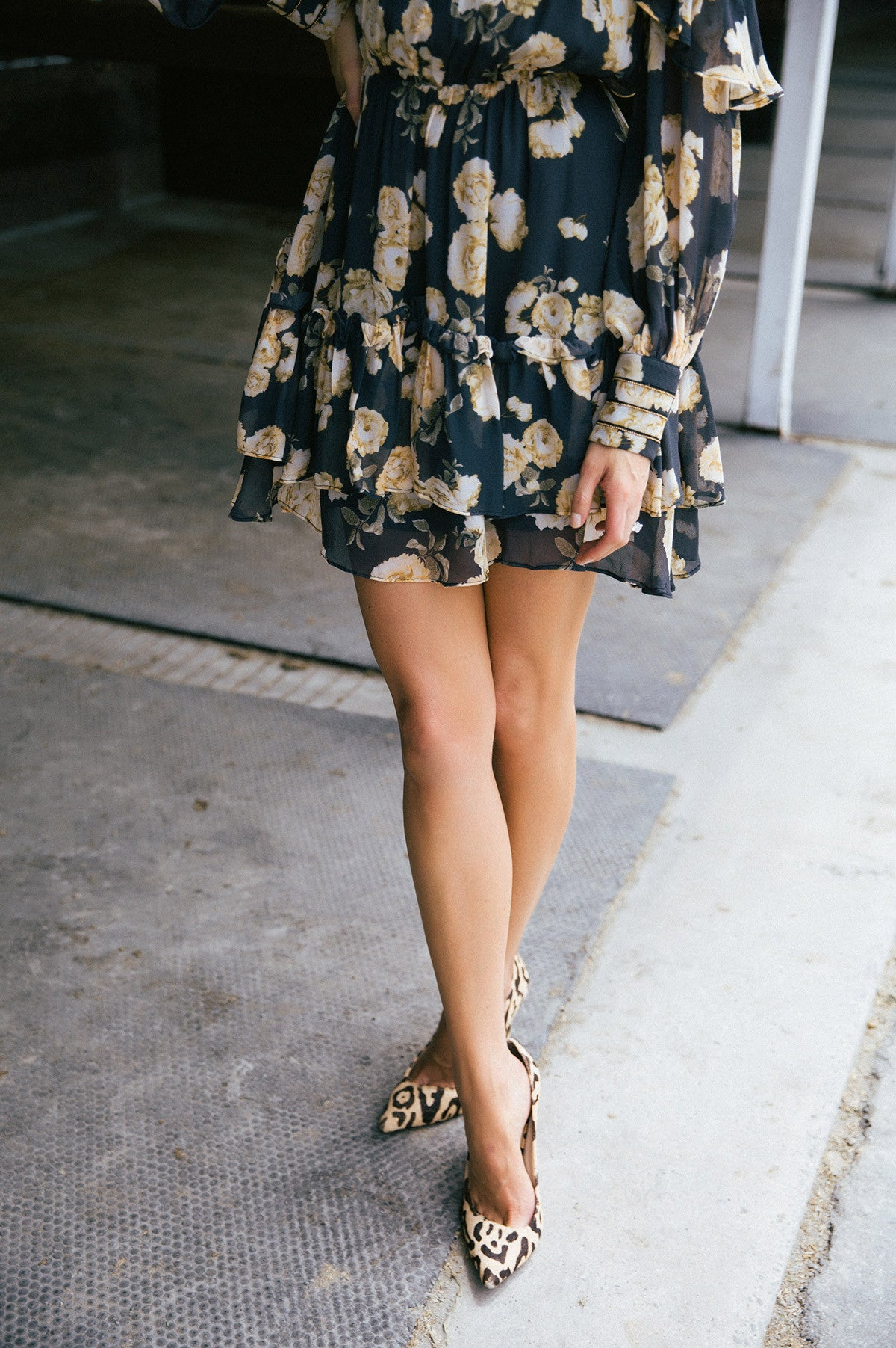 Clashing prints for the Autumn Races done with a mini dress and simple shoe