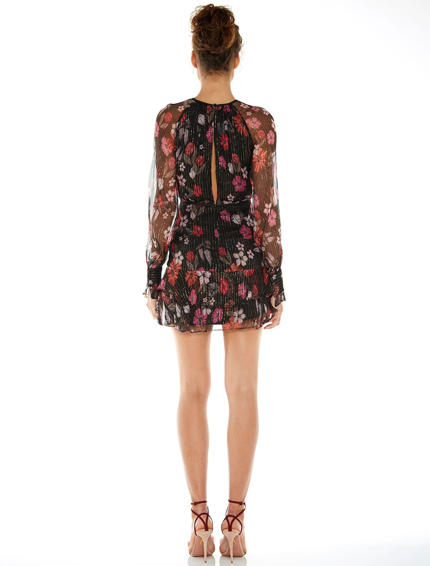 WILD BLOOM L/S MINI DRESS