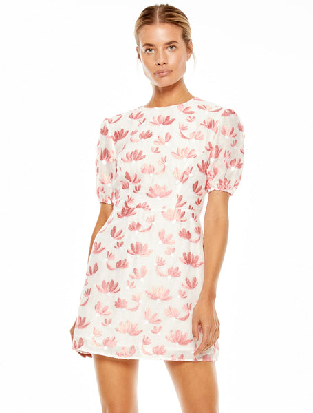 ROSE PETAL MINI DRESS