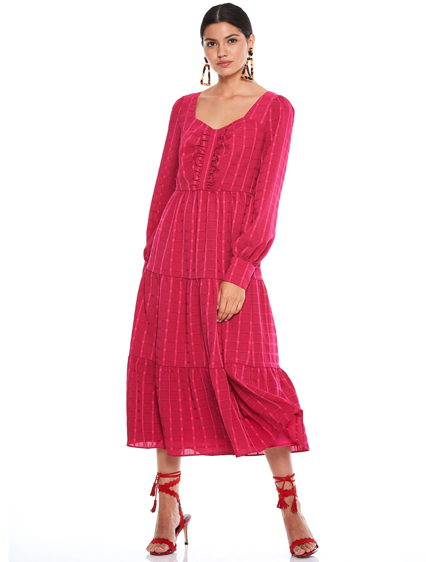 FLAMENCO MIDI DRESS