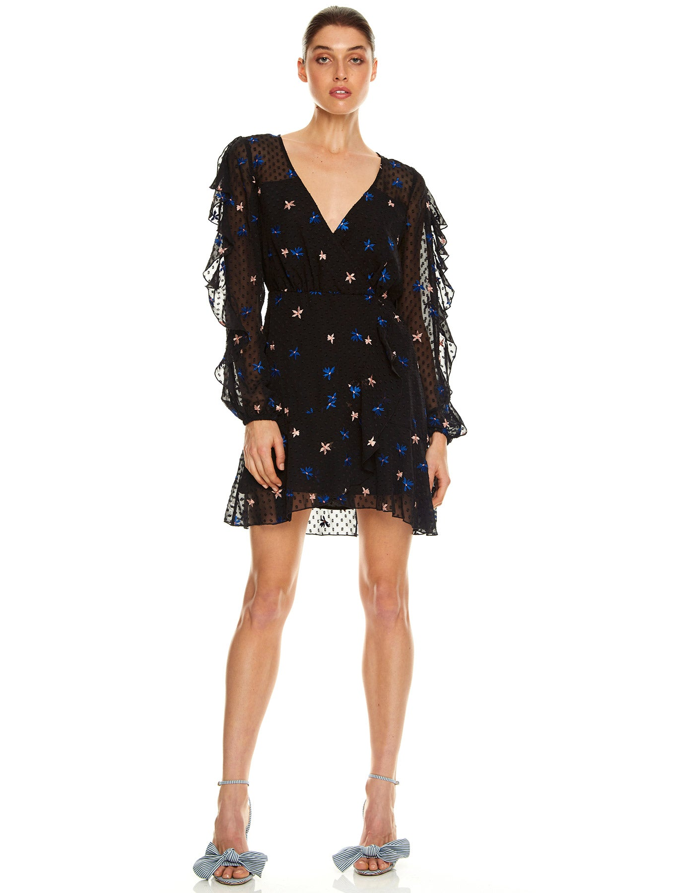 UP ALL NIGHT L/S MINI DRESS