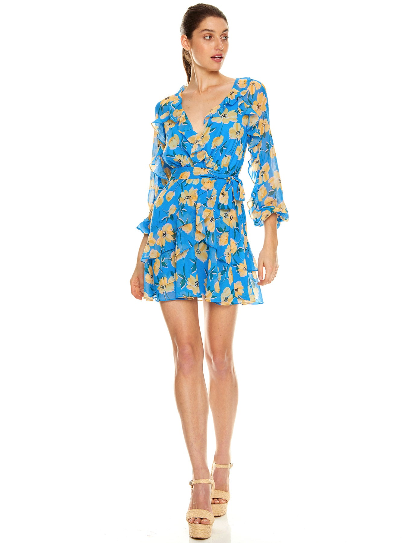 SICILY SWAY L/S MINI DRESS
