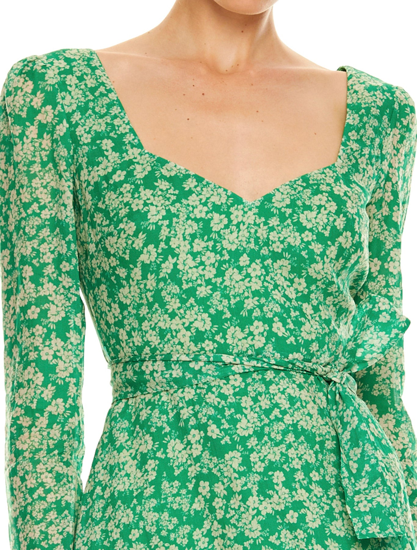 GREEN WITH ENVY L/S MINI DRESS
