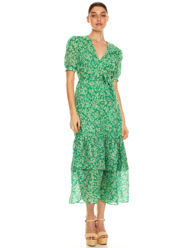 GREEN WITH ENVY MIDI DRESS