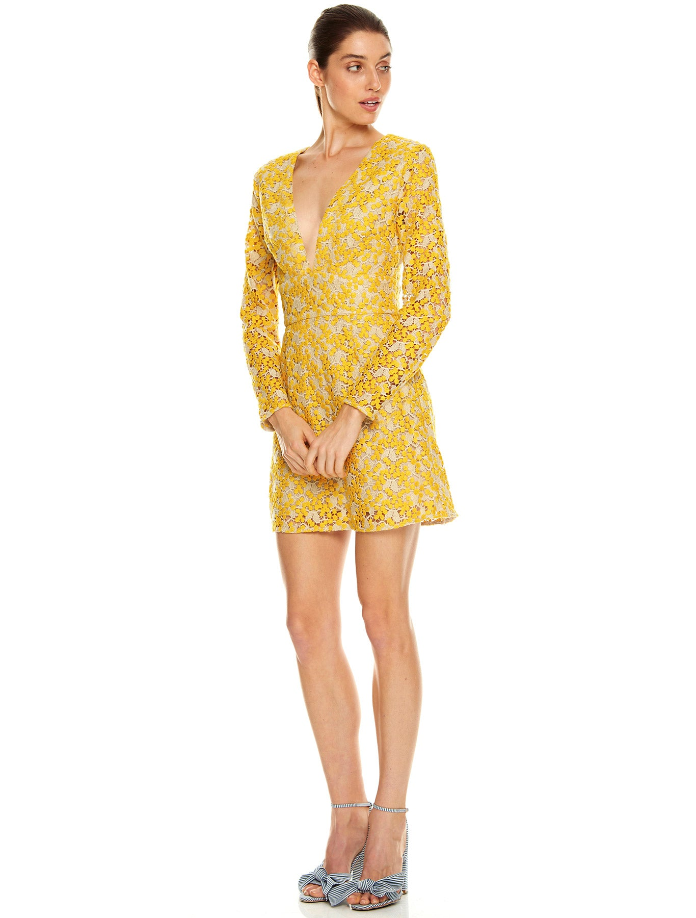 SUN DREAMS L/S MINI DRESS