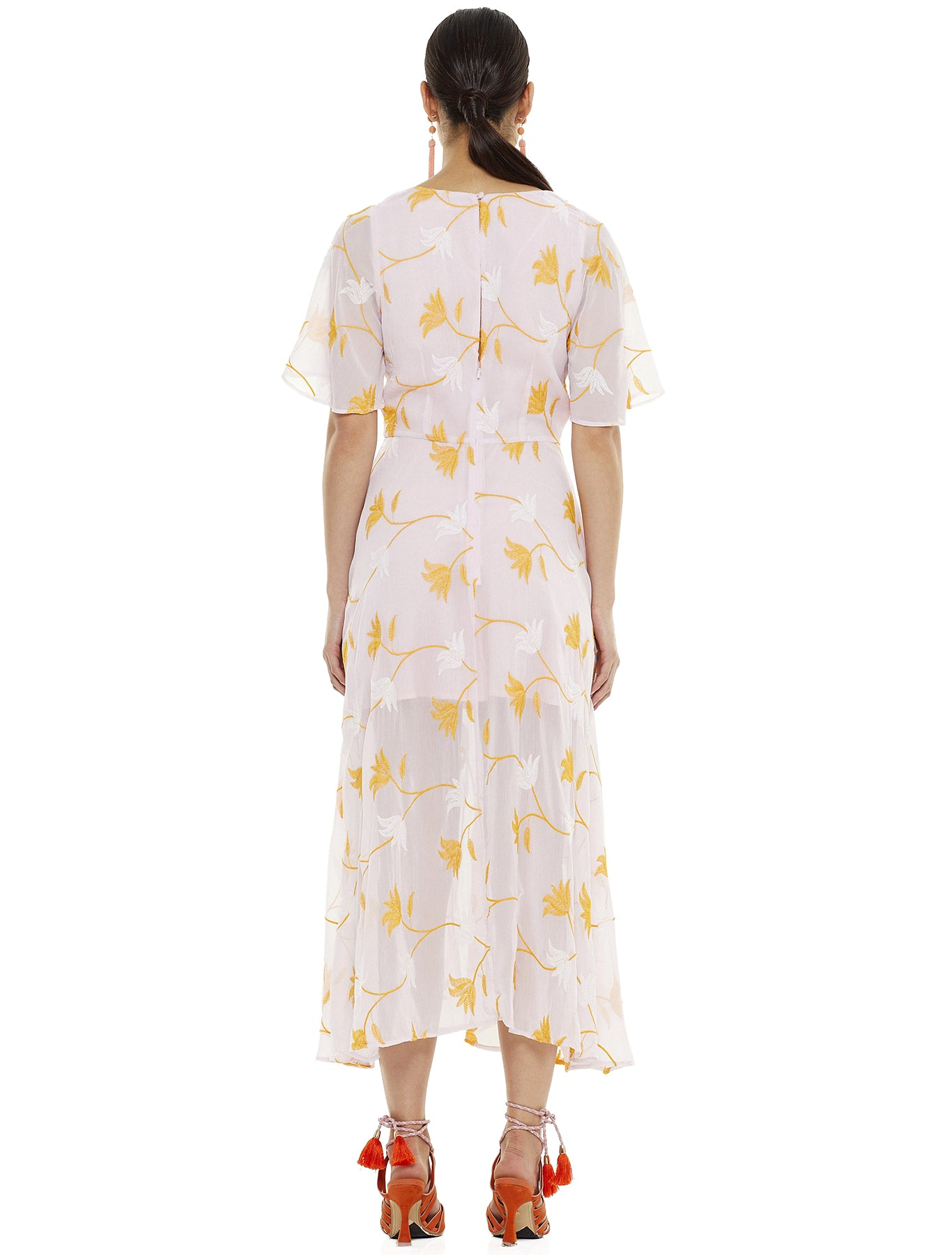 HEY BABY EMBROIDERY MIDI DRESS