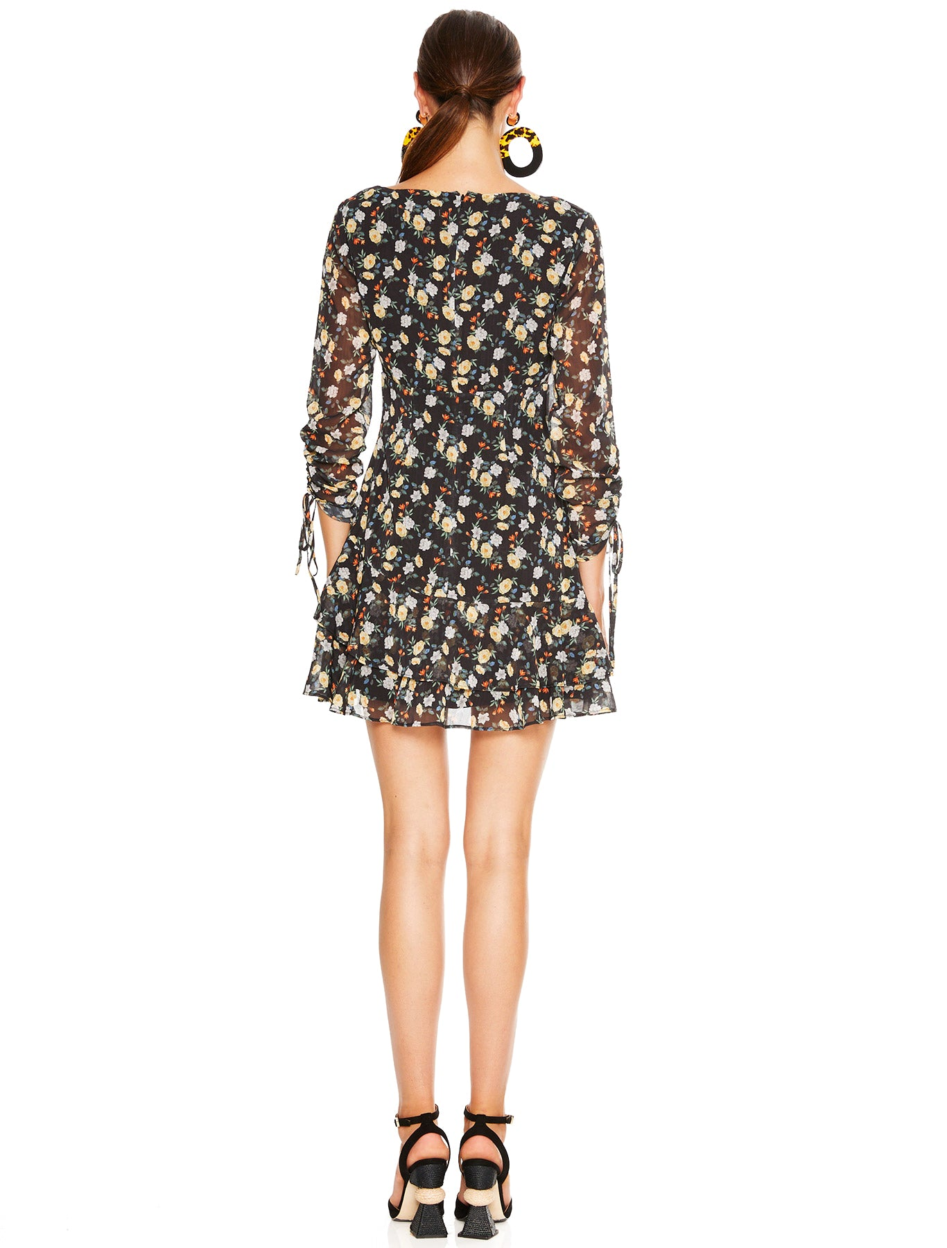 TAHITI NIGHTS L/S MINI DRESS
