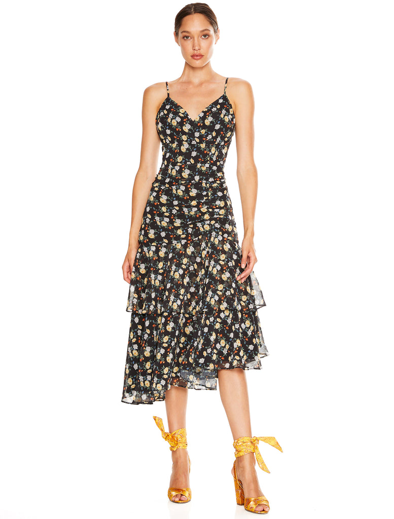 TAHITI NIGHTS MIDI DRESS