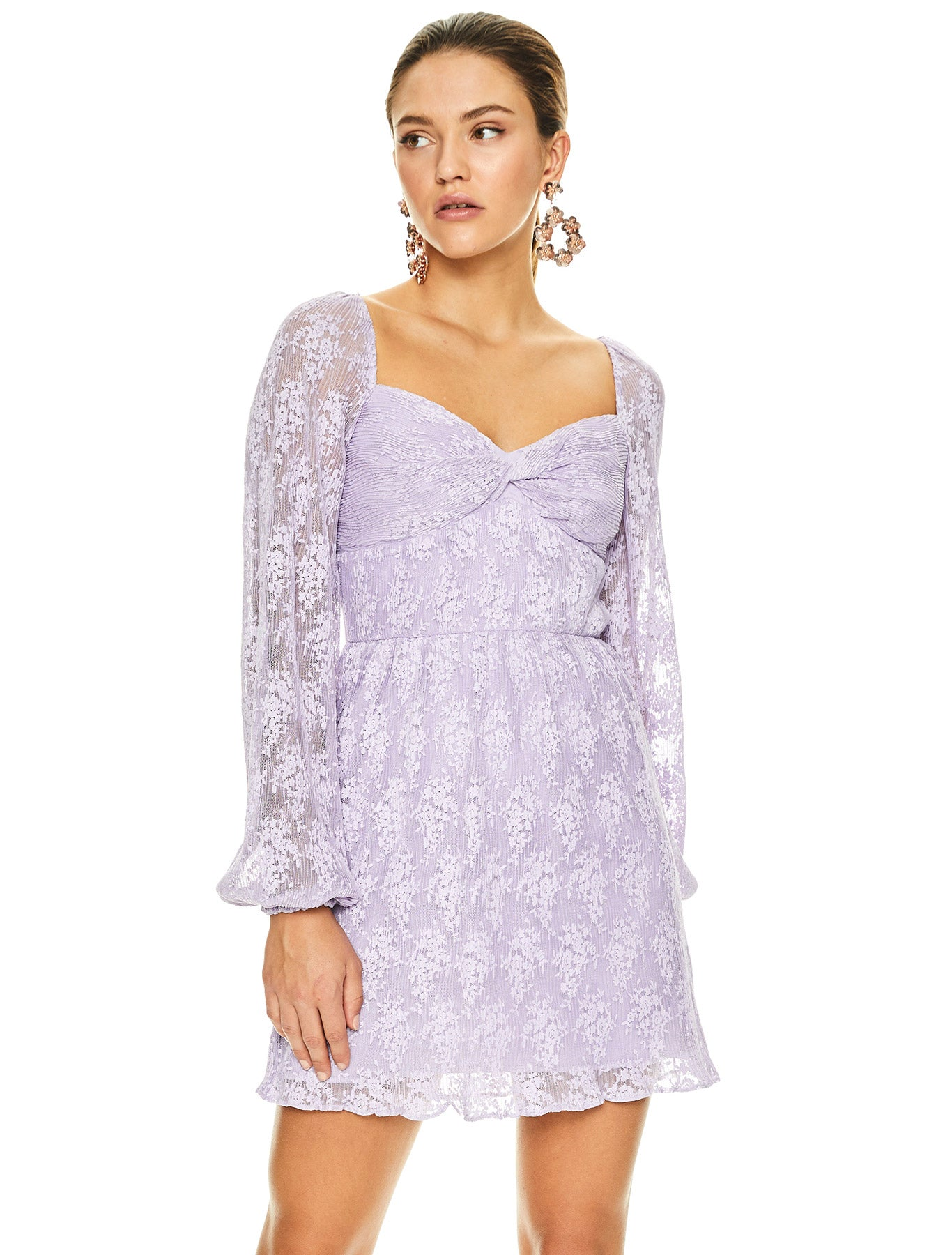 LILAC DREAMS MINI DRESS