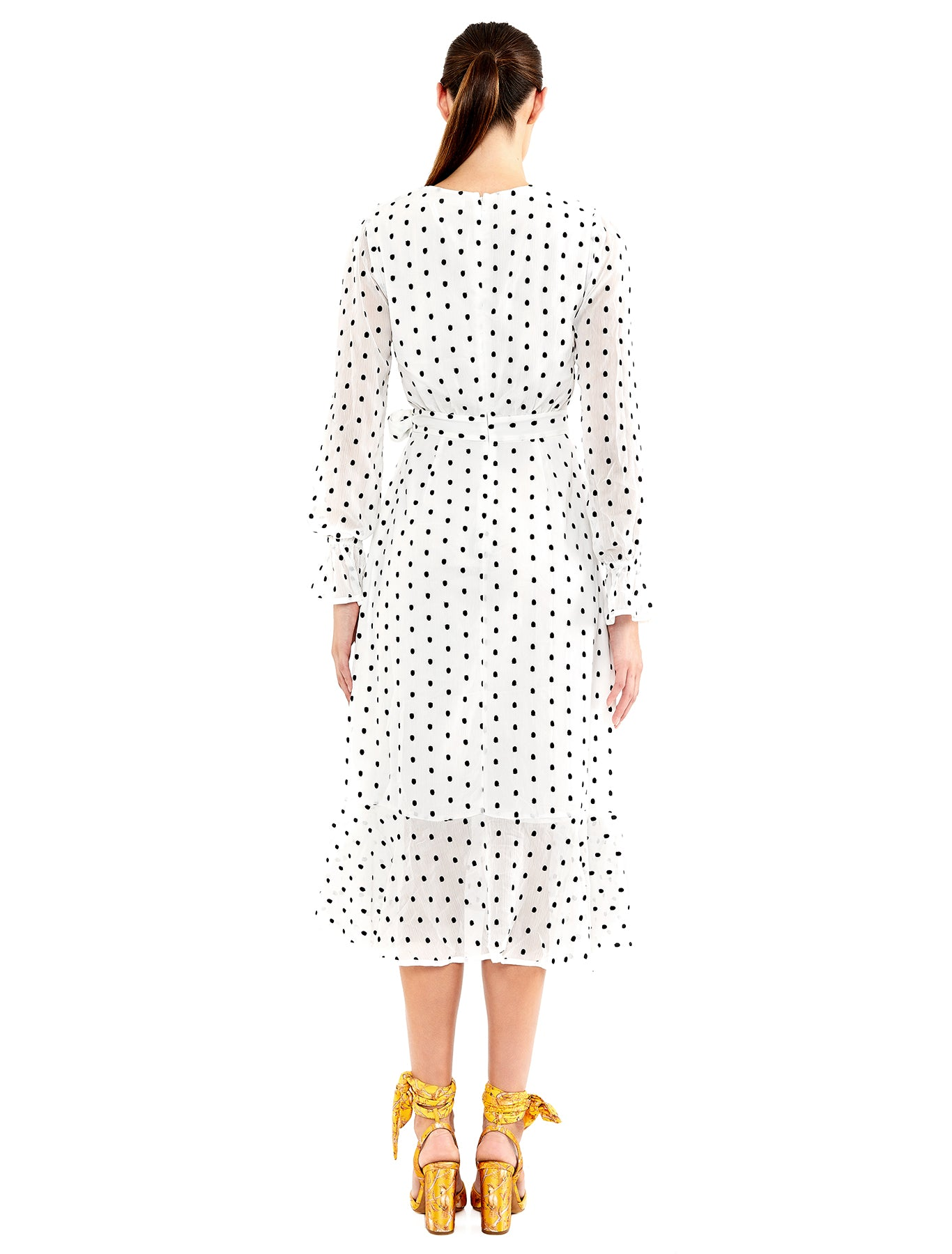 SOMETHING ABOUT YOU L/S MIDI DRESS