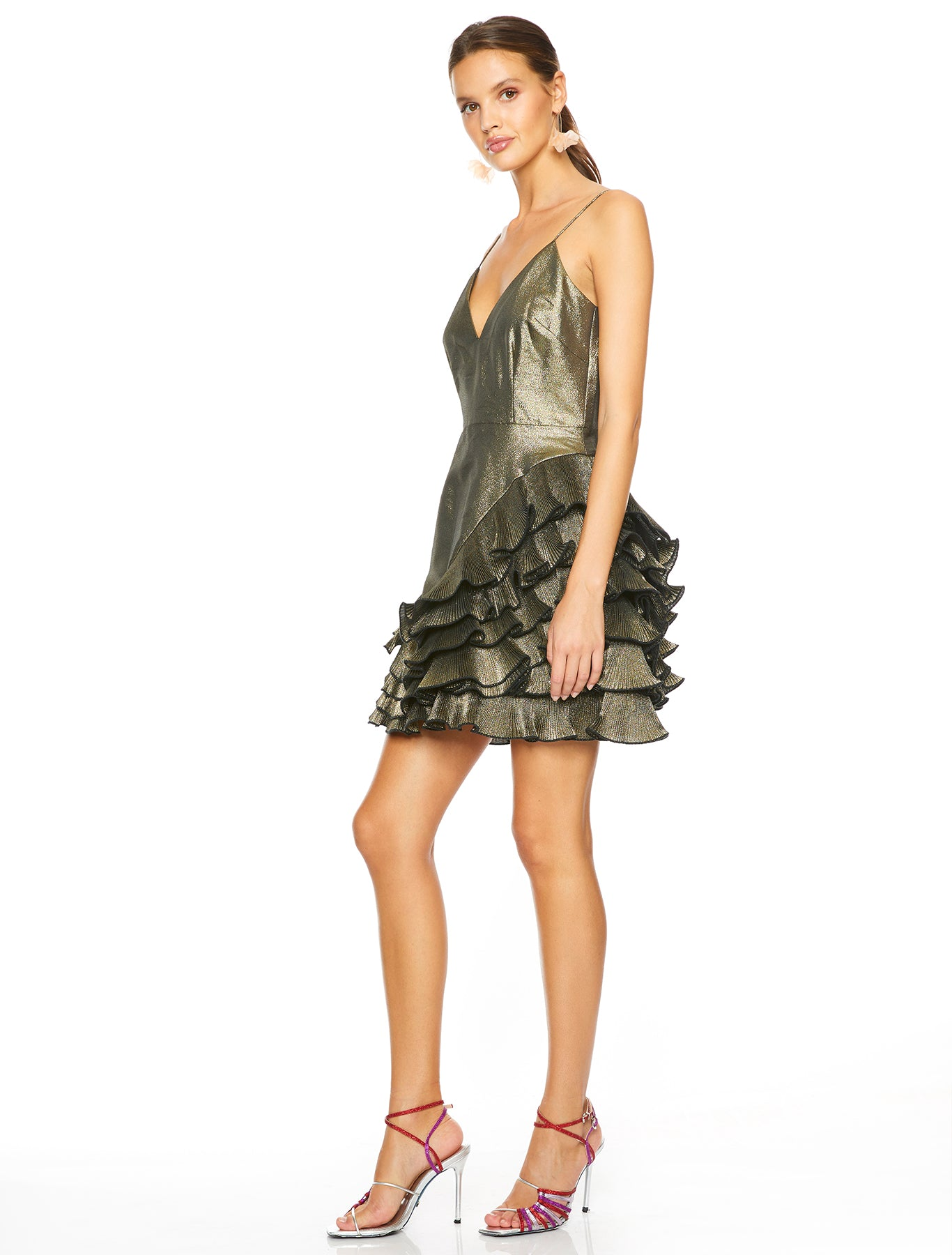 GOLDA RUFFLE MINI DRESS