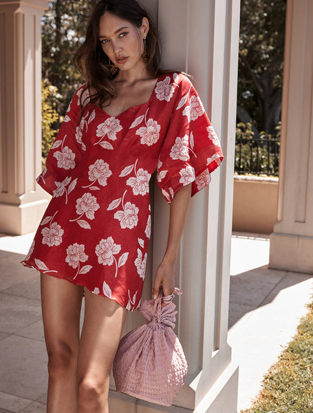 WILD POPPY MINI DRESS