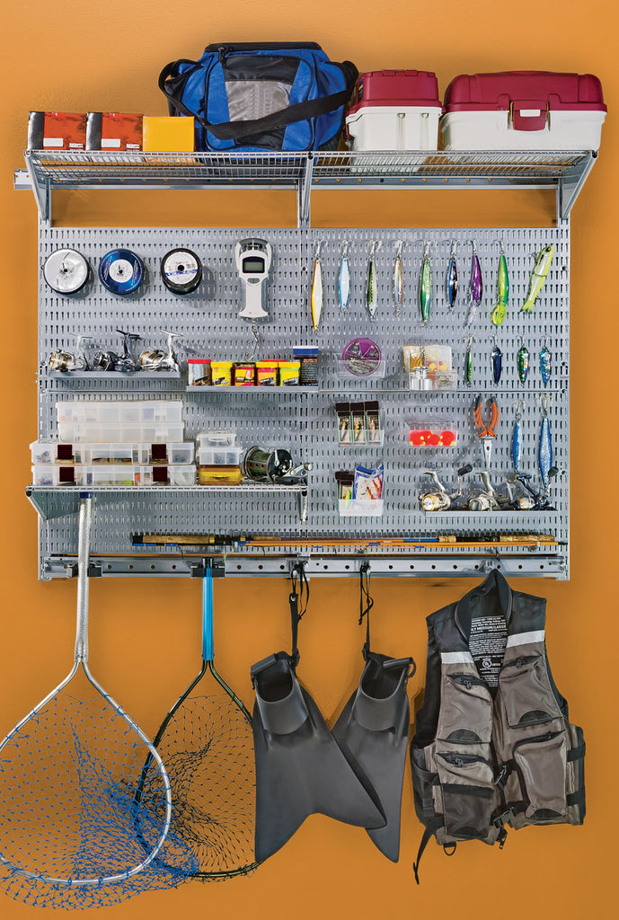 image of garage with allspace wall organizing system