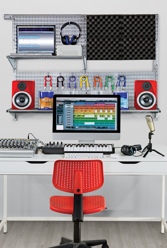 image of home office with allsapce wall organizing system