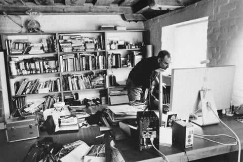 image of steve jobs at his desk