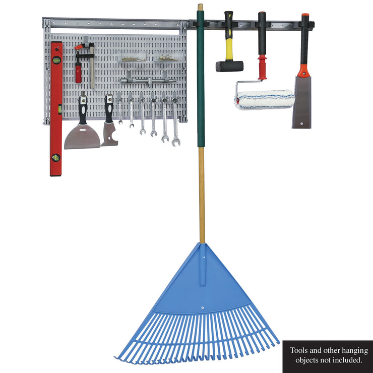 23 Pc. Garage Organizer Wall Storage System with Pegboard, Hooks and Hangers