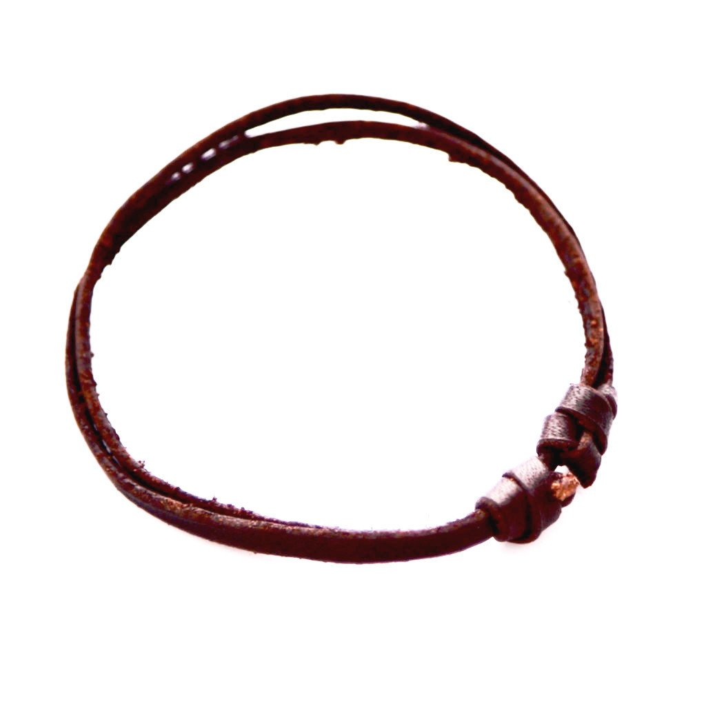 Flat Leather Cuff - Chocolate