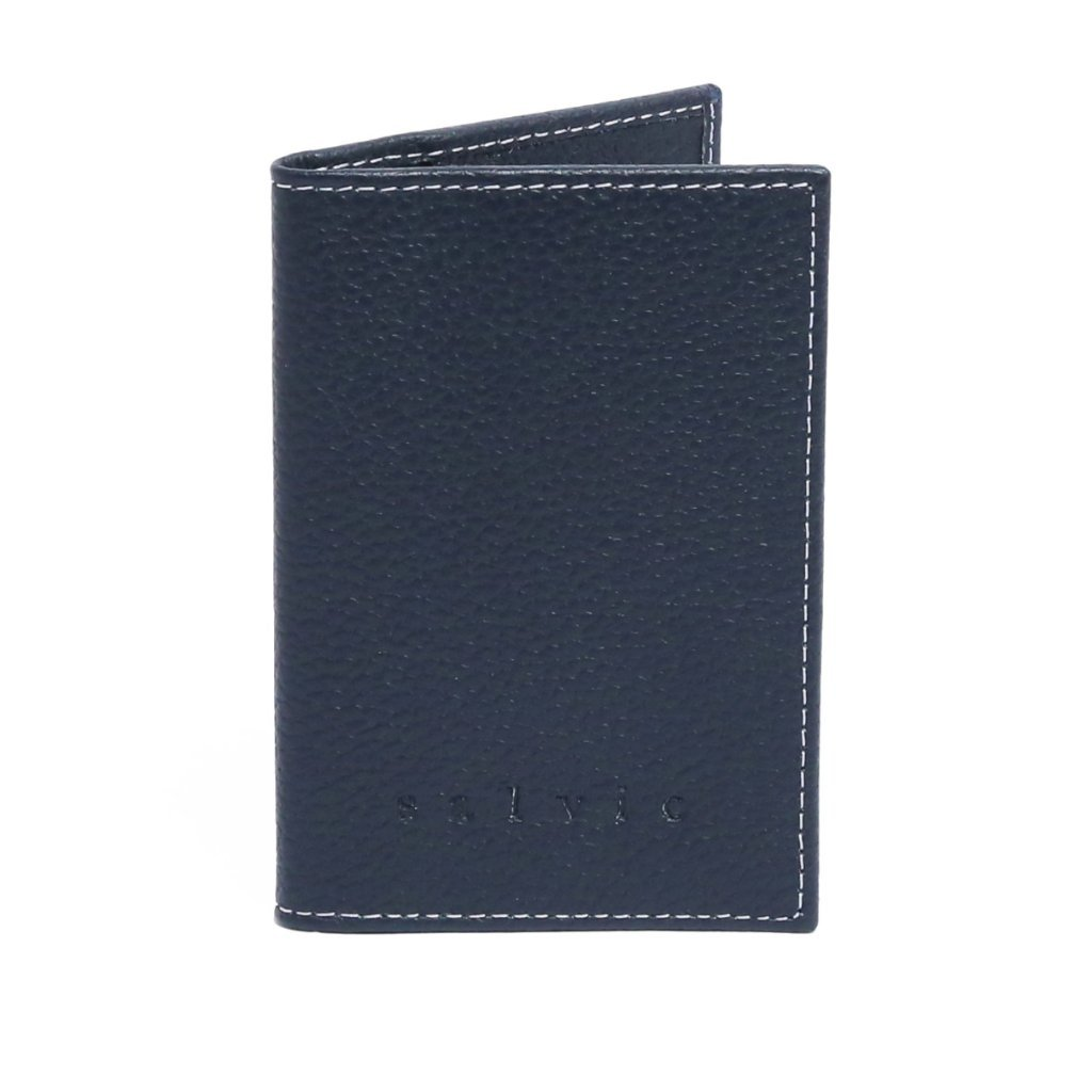 Salvio Pascal Wallet | Navy | Pebble Grain