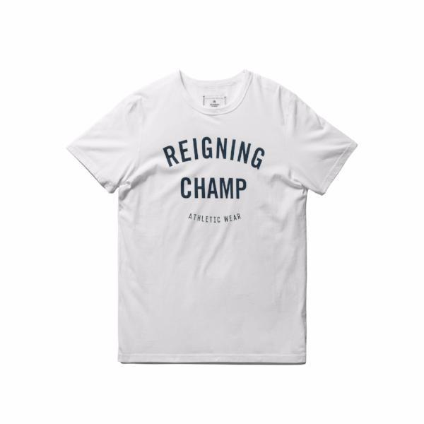 Reigning Champ - Cotton Jersey Gym Logo Short Sleeve Tee - White