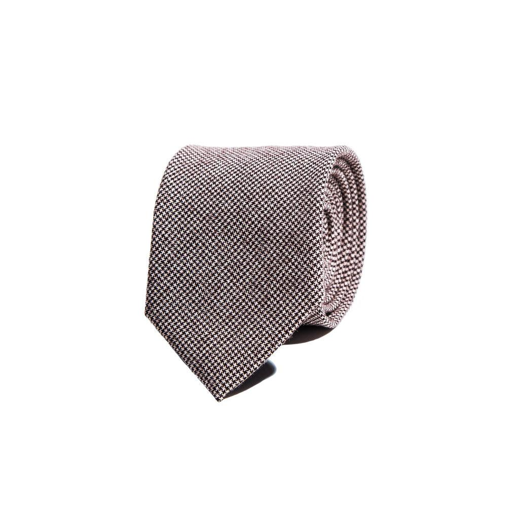Safron | Brown Houndstooth Check Tie