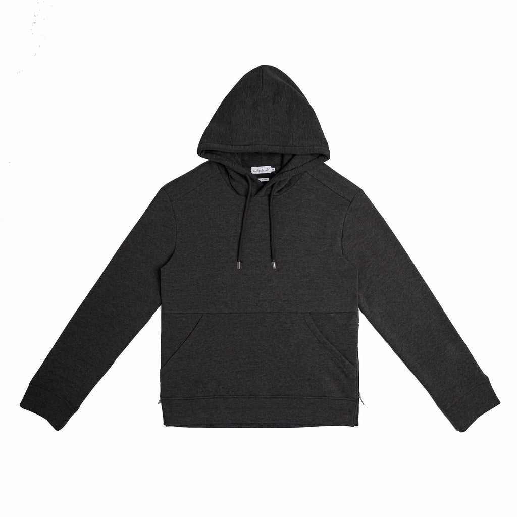 Wheelers.V Beaman Hood Pullover - Charcoal