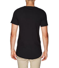 Bandsome | Crew Neck Raw Tee | Black