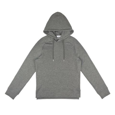 Wheelers.V Mason Hood Pullover - Grey Heather