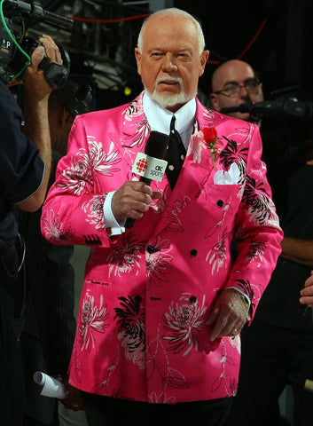 Don Cherry in a pink floral suit
