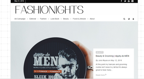 Fashion Nights website screenshot