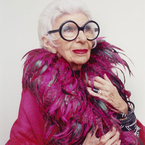 headshot of Iris Apfel