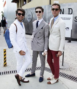 group photo of mens fashion bloggers