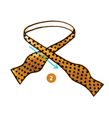 bow tie knot infographics step 2 of 9 | Parlour.Club