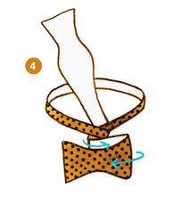 bow tie knot infographics step 4 of 9 | Parlour.Club