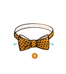 bow tie knot infographics step 9 of 9 | Parlour.Club