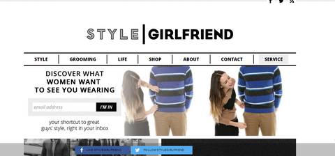 style girlfriend website screenshot