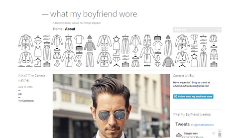 What my Boyfriend wore blog screenshot