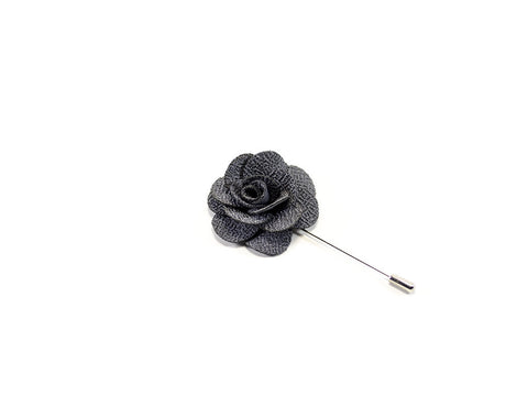 Lapel Pin - flower shape - grey petals - Parlour.club
