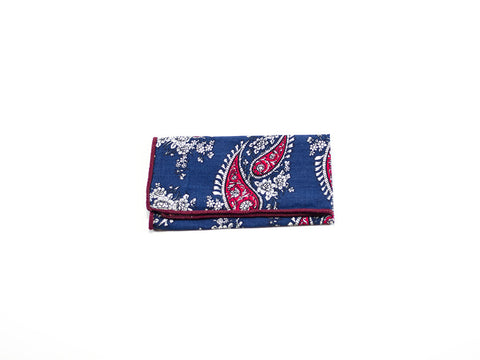 Paisley Pocket square, red blue