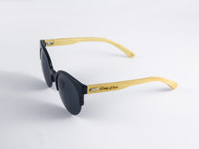 Romy Wave Bamboo Sunglasses leg | Parlour.Club