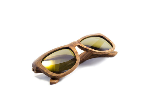 Wood Sunglasses side view folded - model Big Slick - parlour.club