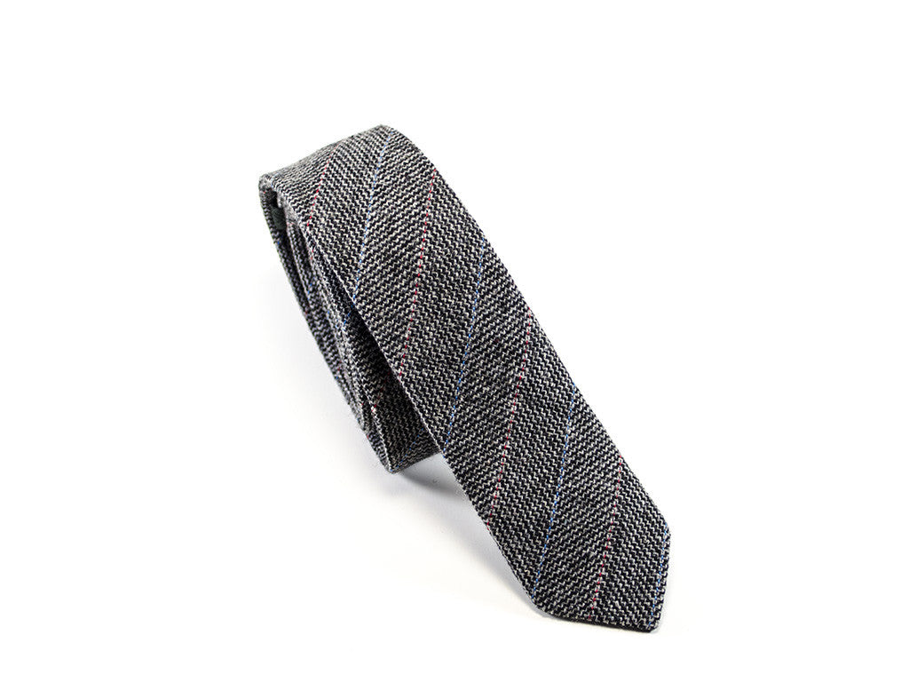 Wool Tie Grey on white background | Parlour.Club