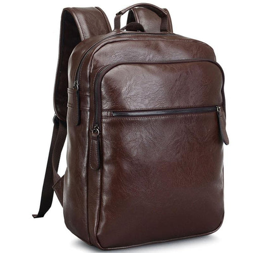 All In One, Business & Travel Vintage Leather Backpack Laptop