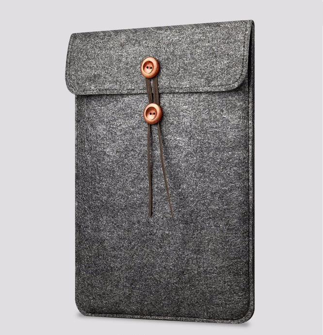 Elegant Wool Felt Sleeve Case For Ipad