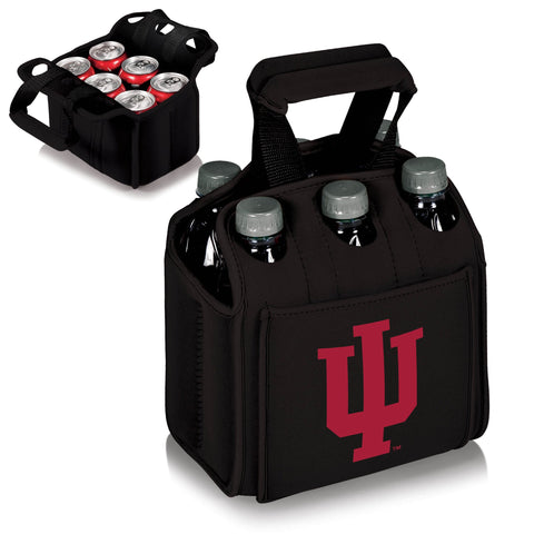 Indiana Hoosiers Six Pack Beverage Carrier in Black