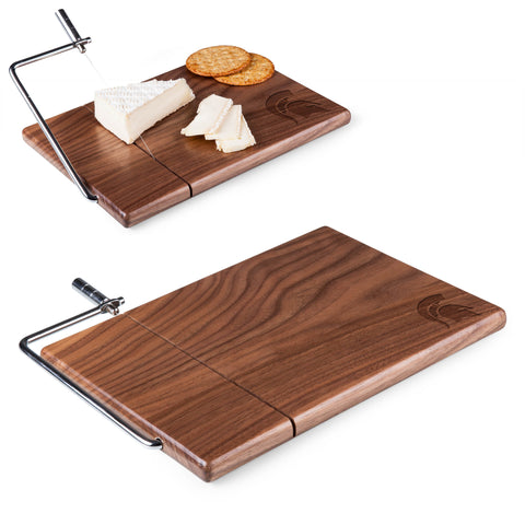 Michigan State Spartans Meridian Black Walnut Cutting Board and Cheese Slicer